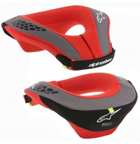 Collarin Niño Alpinestars Sequence Youth Neck Roll Black / Red