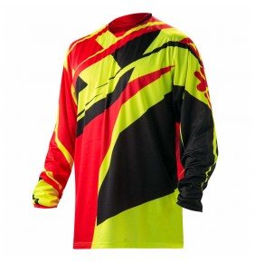 Camiseta Acerbis Profile Red / Fluo Yellow