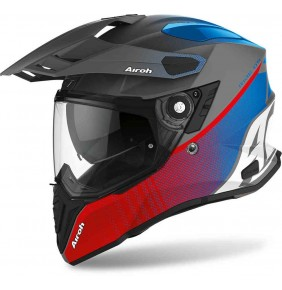 Casco Airoh Commander Progress Red Blue Matt 2021