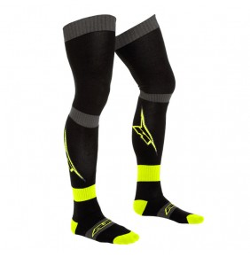 Calcetines Axo Pippi Long Sock Black / Yellow Fluo