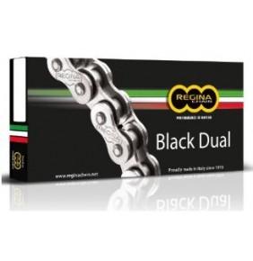 Cadena Regina ZRA Dual Black con Retenes Enduro y Carretera 118P