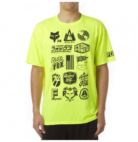 Camiseta Fox MTN Division Tech Fluo Yellow