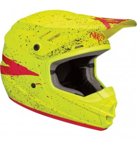 Casco Niño Thor Sector Hype Matte Acid / Red