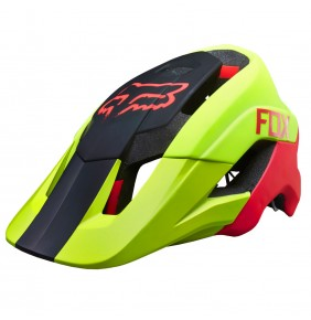 Casco Fox Metah Attack Matt Fluo Yellow