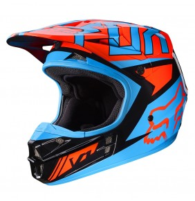 Casco Fox V1 Falcon Black Orange Gloss Finish