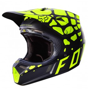 Casco Fox V3 Grav Black Yellow Matte Finish