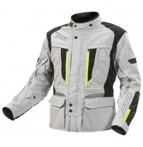 Cazadora Axo Kalahari Jacket Grey Yellow Fluo