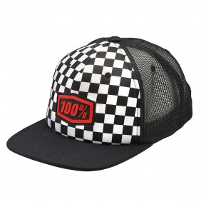 Gorra Niño 100% Checkers Youth Black