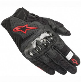Guantes Verano Alpinestars SMX-1 Air V2 Black / Red Fluo