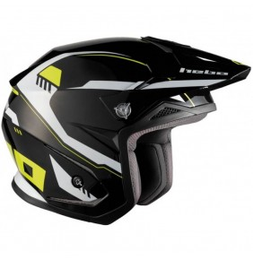 Casco Jet Hebo Zone 5 Pursuit Black Lime