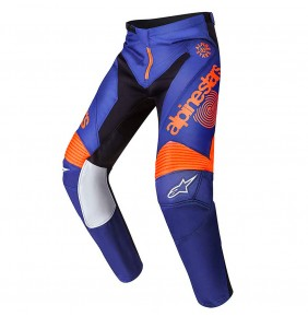 Pantalón Alpinestars Racer 7 Braap Indianapolis LE White Orange Fluo / Dark Blue 2017