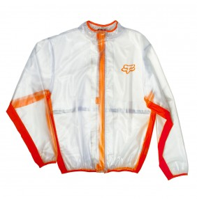 Chaqueta de Lluvia FOX MX Fluid Clear / Orange