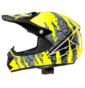 Casco Niño Axo Ninja Junior Yellow