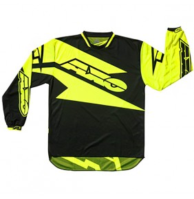 Camiseta AXO Motion Black Yellow Fluo