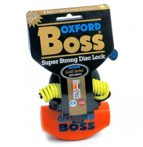Candado de Disco OXFORD Super BOSS Orange