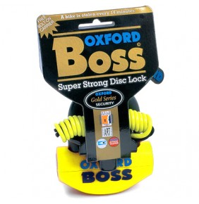 Candado de Disco OXFORD Super BOSS Yellow