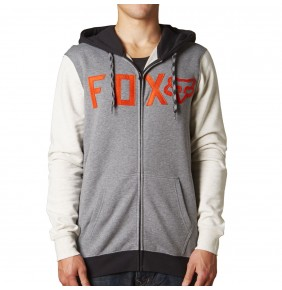 Sudadera Fox Wingd Zip Fleece Heather Graphite