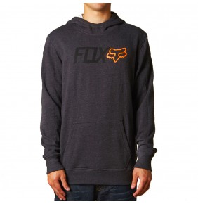 Sudadera Fox Warmup Pullover Fleece Heather Black