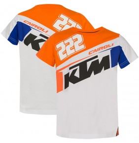 Camiseta Niño KTM Tony Cairoli 222 White / Blue / Orange 2020