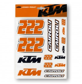 Adhesivos KTM 222 Tony Cairoli Sticker Sheet