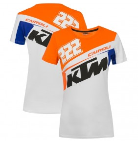 Camiseta Chica KTM Tony Cairoli 222 White / Blue / Orange 2020