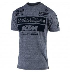 Camiseta KTM Troy Lee Designs Team Vintage Gray Snow