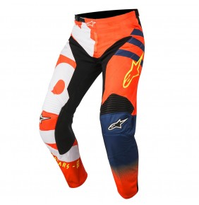 Pantalón Niño Alpinestars Racer Braap Orange Fluo Dark Blue White 2018
